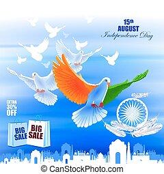 背景, 飛行, 印第安語, 廣告, 鴿, 天, 獨立, 慶祝
