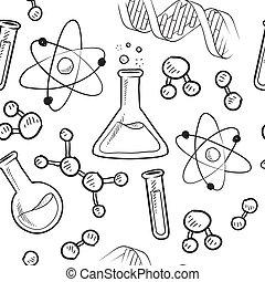 背景, seamless, 科學