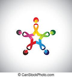 胸部, 這, 弓, 女孩, 表明, &, 環繞, 帶子, 5, 概念, 包含, 安全, 婦女, 保障, 鮮艷, 圖表, -, 癌症, 保護, 針對, vector.