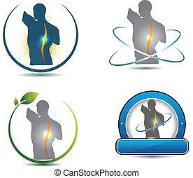 脊椎, 符號, 健康