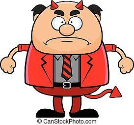 脾氣壞, 卡通, 老板, 魔鬼