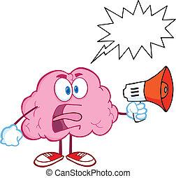 腦子, 擴音器, 尖聲叫