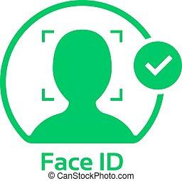 臉, 標識符號, 標識語, 批准, 綠色