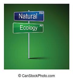 自然, 路, 方向, 徵候。, 生態學