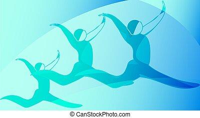 舞蹈家, 黑色半面畫像, 跳躍