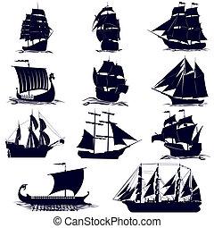 船, 周線, 航行