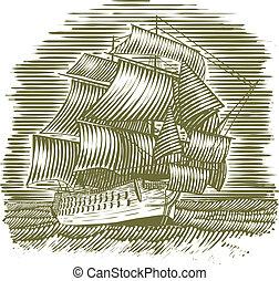 船, 木刻