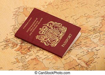 良好, 地圖, 護照, 世界