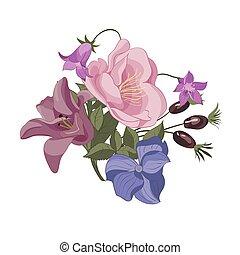 花卉 花束, 插圖