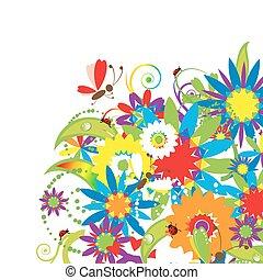 花卉 花束, 插圖, 夏天