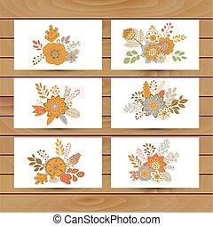 花卉 花束, 矢量, 插圖, 圖象