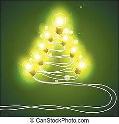 花環, 樹, 聖誕節