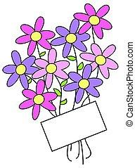 花, 標簽