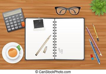 茶, 筆記本, 工作區
