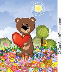 草坪, 愛, 熊