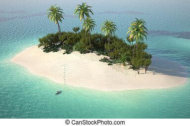 荒島, 看法, 空中, caribbeanl
