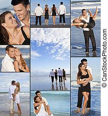 荒蕪, 四人, montage, 兩對夫婦, 海灘