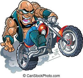 荒野, 騎自行車的人, 禿頭, 花花公子