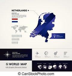荷蘭, 地圖, 矢量