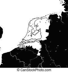 荷蘭, 地圖