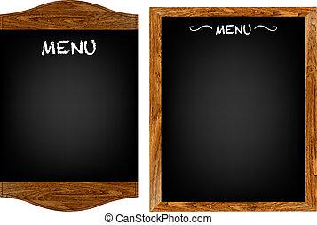 菜單, 集合, 正文, 板, 餐館