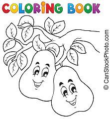 著色, 主題, 2, 書, 水果