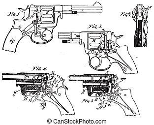 葡萄酒, 小馬, 左輪手槍, 圖畫