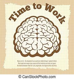 葡萄酒, 工作, 時間, 海報