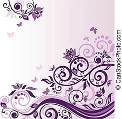 葡萄酒, 框架, 紫丁香