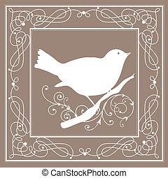 葡萄酒, 框架, 鳥