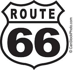 葡萄酒, 路線, 簽署, retro, 66, 高速公路