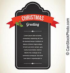 葡萄酒, 邀請, 黑板, 聖誕節, 標簽