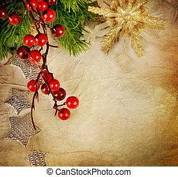葡萄酒, 風格, card., 問候, 聖誕節