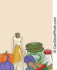 蔬菜, 調味品, 背景