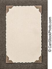 薄, 風格, frame., 相片, retro, 角落, 卡片