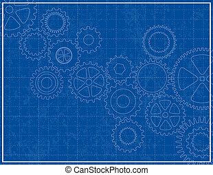 藍圖, 嵌齒輪, 背景