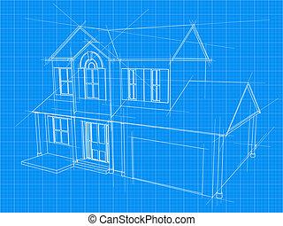 藍圖, 房子