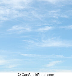 藍色的天空, 云霧, 光
