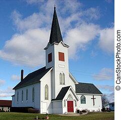 藍色的天空, 教堂