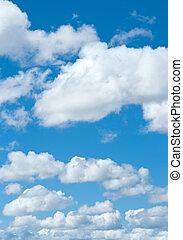 藍色的天空, 白色的云霧