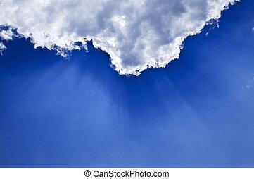 藍色的天空, sunrays