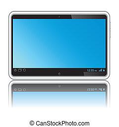 藍色的屏幕, 片劑, 數字