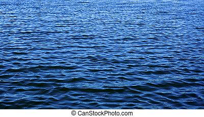 藍色的水, 深, 背景, 起波紋