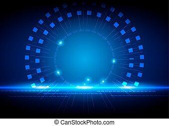 藍色的燈, 抽象 概念, 技術