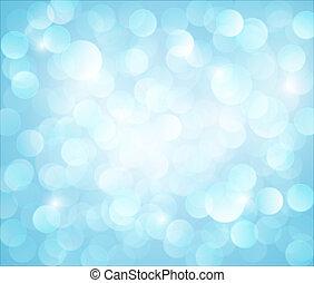 藍色的燈, bokeh, 矢量, 背景