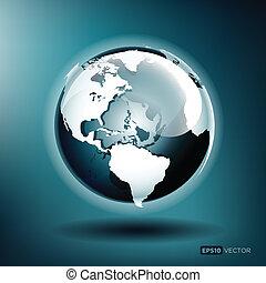 藍色的球, 插圖, 矢量, 有光澤, 背景