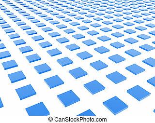 藍色的箱子, 柵格