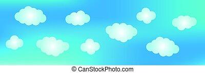 藍色的背景, sky.