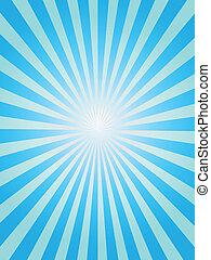 藍色的背景, sunray