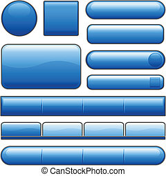 藍色鈕扣, 有光澤, 網際網路